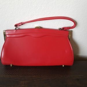 Vintage Red PB 1950's handbag purse